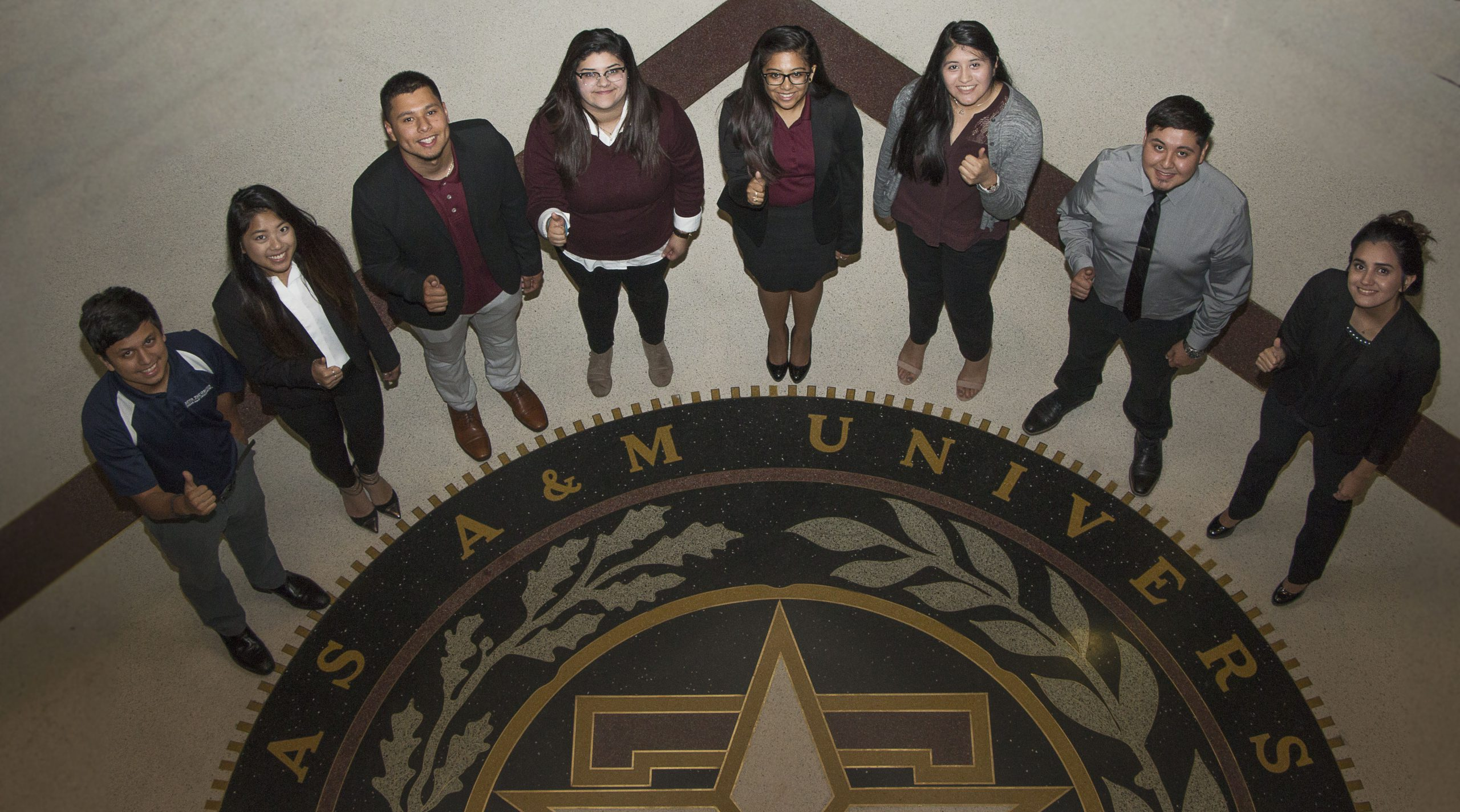 multicultural greek council around Aggie seal
